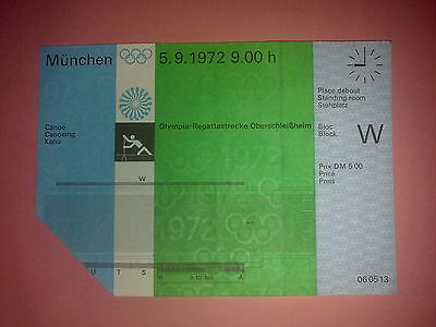 Ticket Olympic Games MÜNCHEN 1972 - CANOEING 5.09.1972