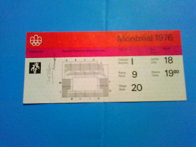 Ticket Olympic Games MONTREAL 18.07.1976 - BASKETBALL