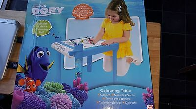 pixar finding dory colouring table with accessories