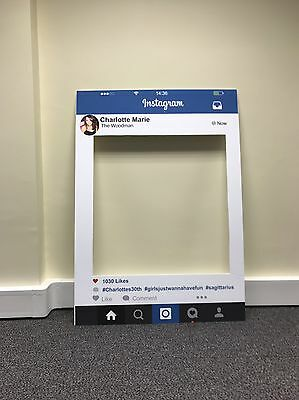 Personalised Instaframe Party Photo Frame Party Booth Prop A2 In Size