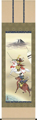japanese hanging scroll  Title :The samurais who ride a horse/new