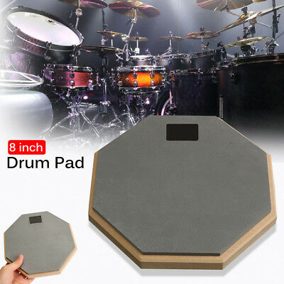 "8"" Soft Black Dumb Drum Pad Exercise Mat Blow Plate Drummer Rubber Double Side"