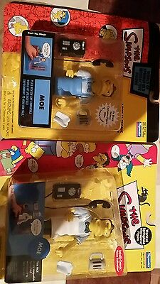 The simpsons playmates World Of Simpsons collector Moe x2