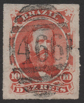 Brazil. 10 Dezreis with the 466 numeral of Liverpool. Unusual. E1248