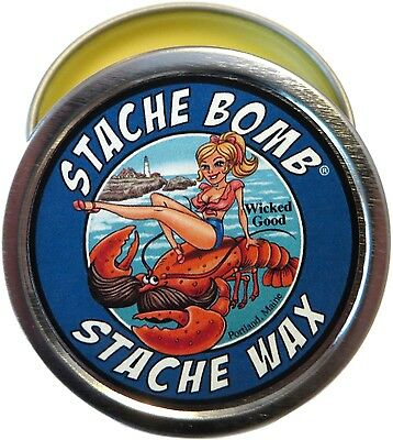 Wicked Good Stache Bomb Stache Wax Mustache Wax Made In Maine- Ocean Scented