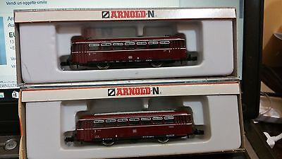Arnold N 1:160 2910 + 2912 Schienenbus Vt 98 Db  Very Good Ovp