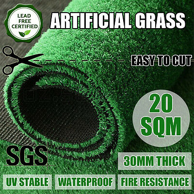 2M*10M Synthetic Artificial Grass Plastic Plant Fake Lawn Flooring Durable 30mm