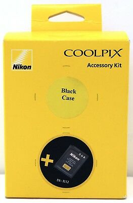 NEW - Nikon S9900 Accessory Kit with EN-EL12 Battery and COOLPIX Case