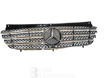 Mercedes Vito Grille With Chrome Trims Genuine MB Part Model Year 2003 - 2010