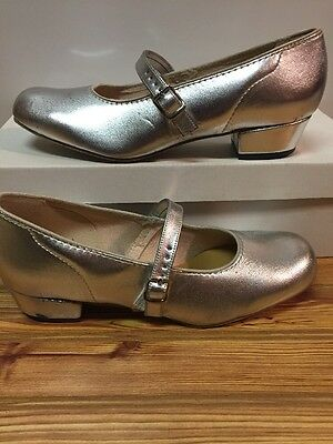 Womens Size 6W Silver Scoop Square Dance Shoes