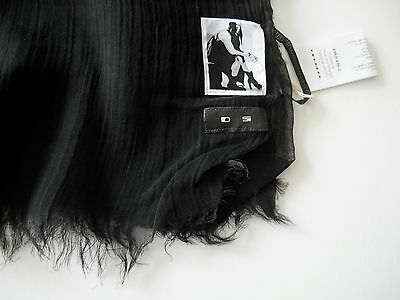 rick owens drkshdws BLACK cotton SCARF one size NEW