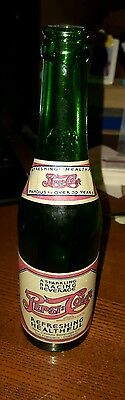 100 Year Anniversary Pepsi Cola Emerald Green Paper Label Bottle  Limited