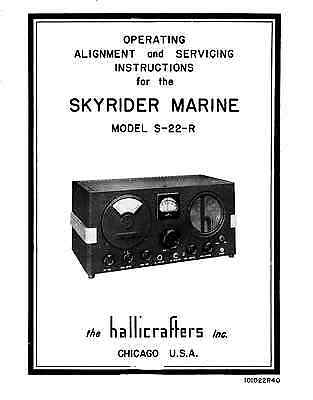Hallicrafters S-22R S-22-R Sky Champion Operating  & Service Manual