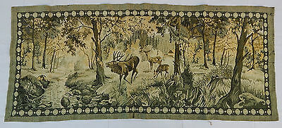 Vintage French Beautiful Forest Scene Tapestry Wall Hanging 69X157cm T231