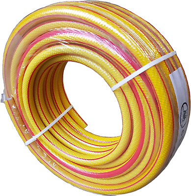 30M(97Ft) Yellow Professional Garden Hose Pipe,6 Layer No Kink-Heavy Duty-
