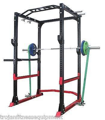 Power Rack Multi Chin Up + Low Row + Dip Handles Safety Bars J Hooks + Pull Up
