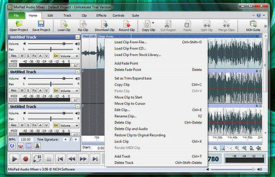 MixPad Multitrack Sound Recording / Mixing Software Home Edition