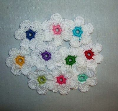 Crochet  Mixed  Lots  Daisy  Flowers Appliques, Accessories Paper  Women  CRAFTS