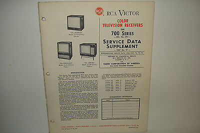 Rca Victor Service Manual 1957 No T7 700 Series No 274 (76 Pages)