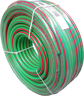 30M(97Ft) Green Professional Garden Hose Pipe,6 Layer No Kink-Heavy Duty-