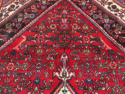 7x10 HAND KNOTTED WOVEN RUG PERSIAN MADE IRAN WOOL AREA 7 x 10 rugs red 6 9 8 11