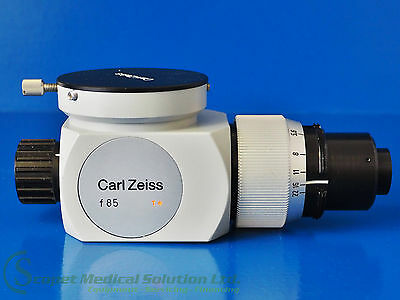 Carl Zeiss Microscope Optic f 85 with Adapter Piece