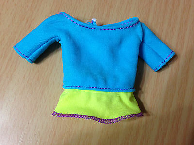 Barbie Doll Made To Move Teresa's Neon Blue Top Clothes Yoga Outfit