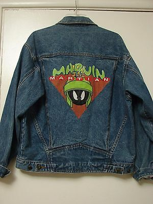Looney Tunes Warner Brothers Marvin the Martian jean jacket retro