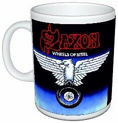 Saxon Heavy Metal Wheels Of Steel Album Cover Mug