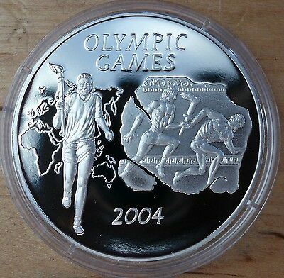 Ghana 500 sika 2003 Athens Olympics 2004 Proof Silver