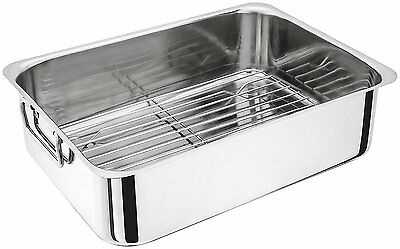 Judge H045 Stainless Steel Roasting Pan with Rack
