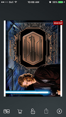 Topps Star Wars Card Trader Medallion Bronze ANAKIN SKYWALKER