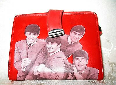 Original Beatles Red Wallet from 1964 made by Standard Plastic Products