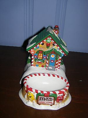 2004 Ceramic M&M's Candy Store DEPARTMENT 56 Lighted House & Candy Dish