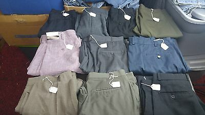 Men's Lot Of Nine Dress Pants,Various Brands,sizes,Styles for RESALE