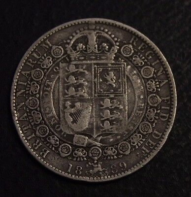 1889 Great Britain Half crown  very nice coin circulated