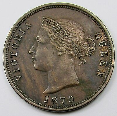 CYPRUS -  QUEEN VICTORIA  ONE PIASTRE COIN  dated 1879  (SCARCE)