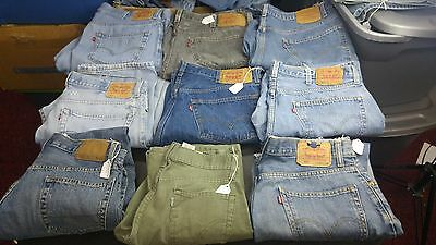 Men's Levi's Lot of 9 Jeans,Various sizes,styles some Faded and Frayed Levi's