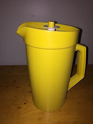 Vintage Tupperware Sunrise Bright Yellow Pitcher