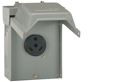 New GE 30 Amp 120-Volt Temporary RV Power Outlet Replacement Plug-In Load Center