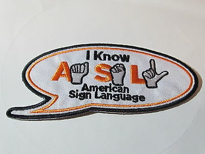 home depot  I  know american sign language patch