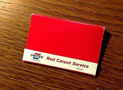 United first class Red Carpet Service  Welcome Aboard matches