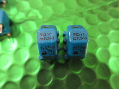 CHOKE, Common Mode 3.3mH @ 10Khz 1.5A 1.5 amp B82721K2152N1 UK Stock Pack qty