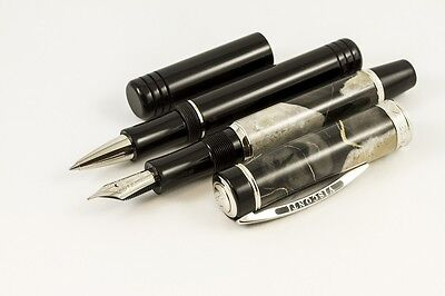 VISCONTI MILLIONAIRE MARBLE BLACK LTD EDITION 15 of 988 FOUNTAIN PEN/ROLLERBALL