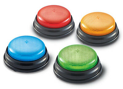 Learning Resources Lights & Sounds Buzzers Set of 4 – NEW