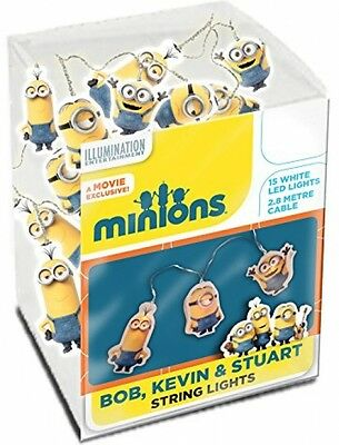 NEW Spearmark Bob/Kevin and Stuart Minions String Lights Yellow - Fast Delivery