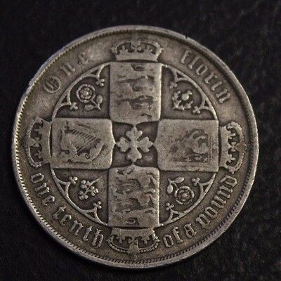1883 Great Britain one Florin nice coin