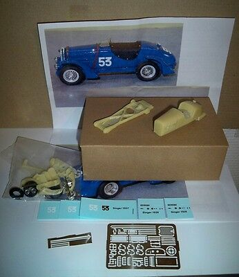 Singer Savoye Special Ty.9 Le Mans '37 #53 1/43 Kit montaggio Limited RARE HOME