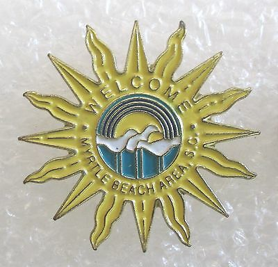 Welcome to Myrtle Beach Area, South Carolina Travel Souvenir Collector Pin-Sun