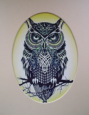 Framed Print - Native Indian Style Owl (Picture Poster Animal Bird of Prey Art)